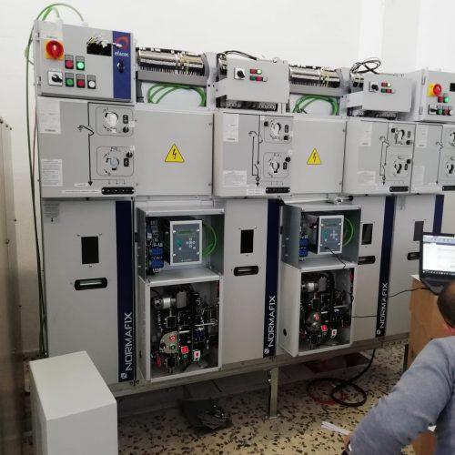 Actuaciones de mejora medía y baja tensión central eléctrica.