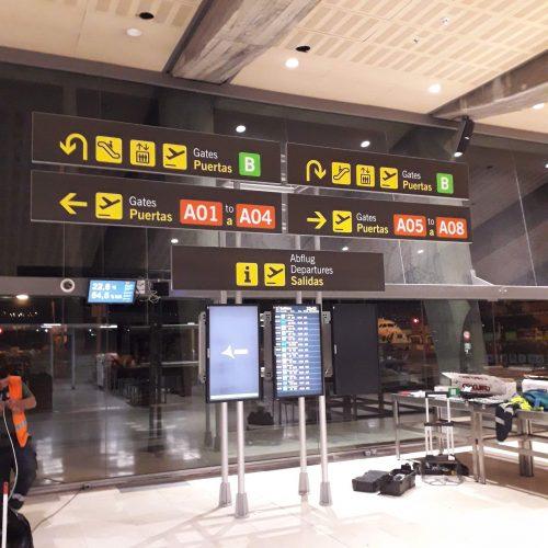 Adaptación del aeropuerto de Tenerife norte al manual normativo de señalización